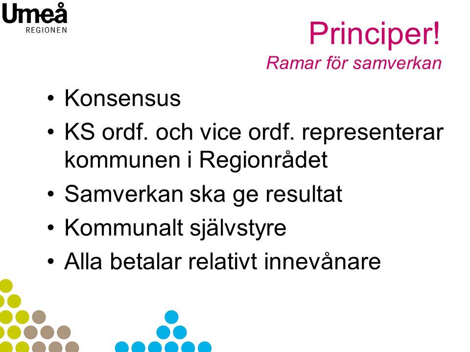 Principer.Ramar för samverkan Konsensus KS ordf. och vice ordf.