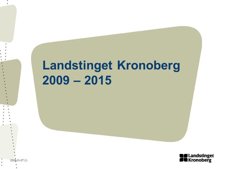 2009-01-07 (2) Vision : Ett gott liv i ett livskraftigt län Mål: Landstinget Kronoberg ska vara ett kvalitetsstyrt landsting