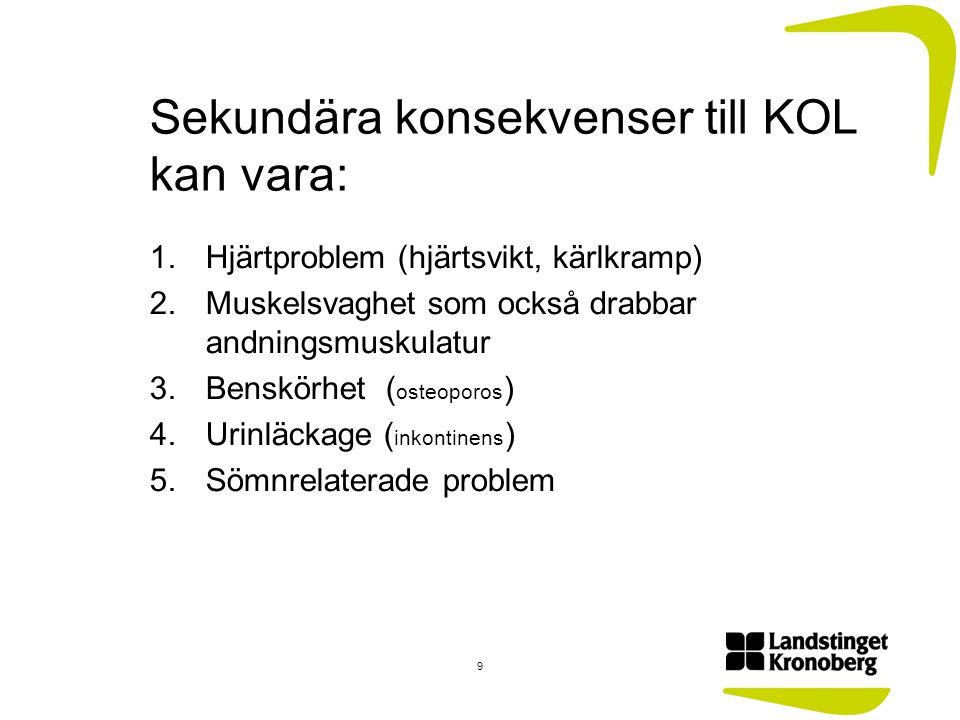 Behandling/rehabilitering av KOL Rökstopp!!!!!.