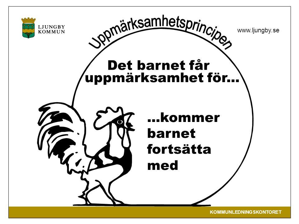 KOMMUNLEDNINGSKONTORET www.ljungby.se Det barnet får uppmärksamhet för......kommer barnet fortsätta med
