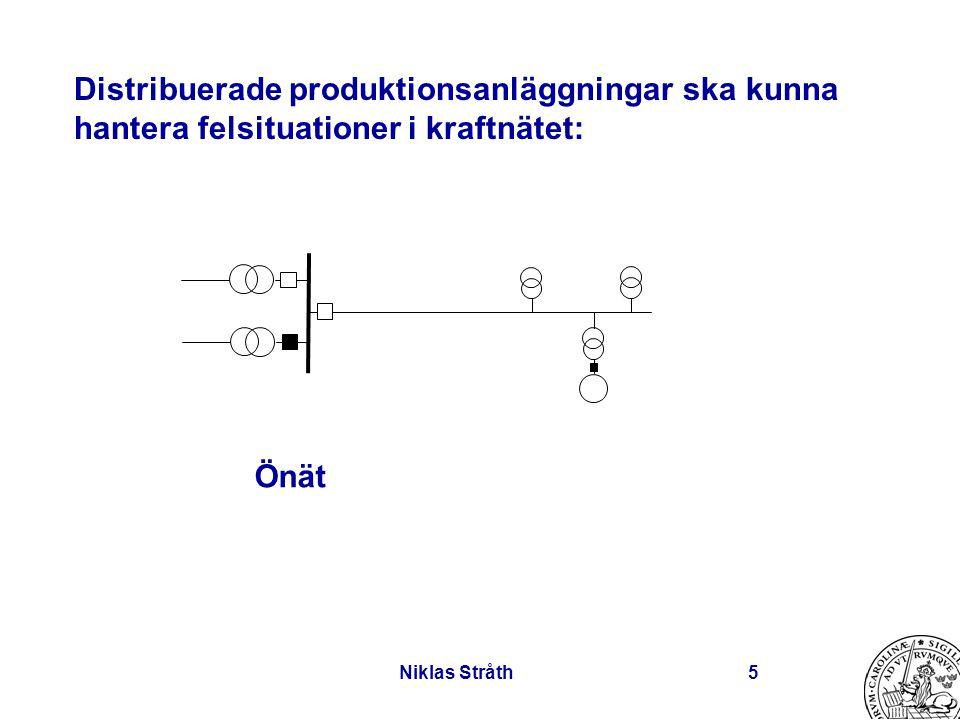 Niklas Stråth5 Distribuerade produktionsanläggningar ska kunna hantera felsituationer i kraftnätet: Önät