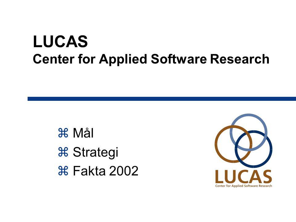 LUCAS Center for Applied Software Research  Mål  Strategi  Fakta 2002