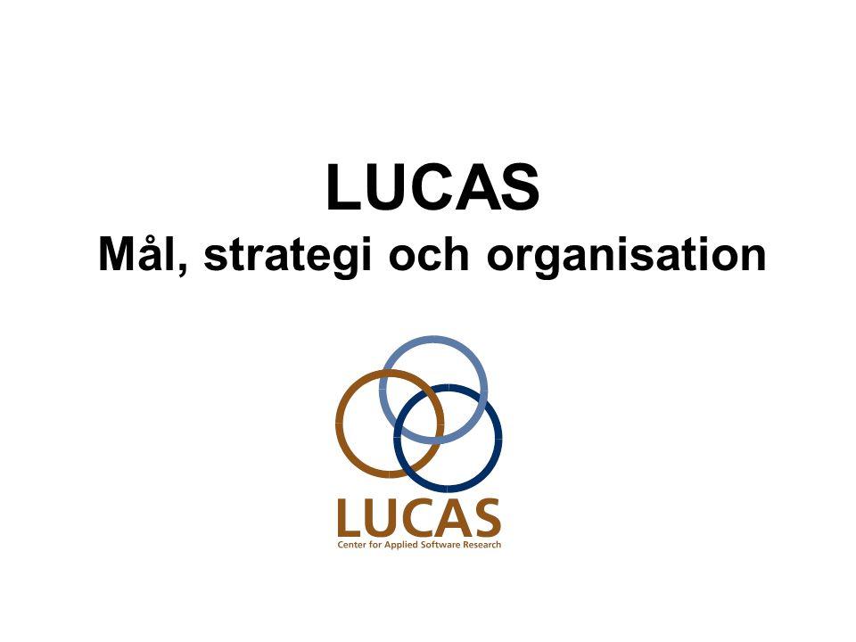 LUCAS Mål, strategi och organisation