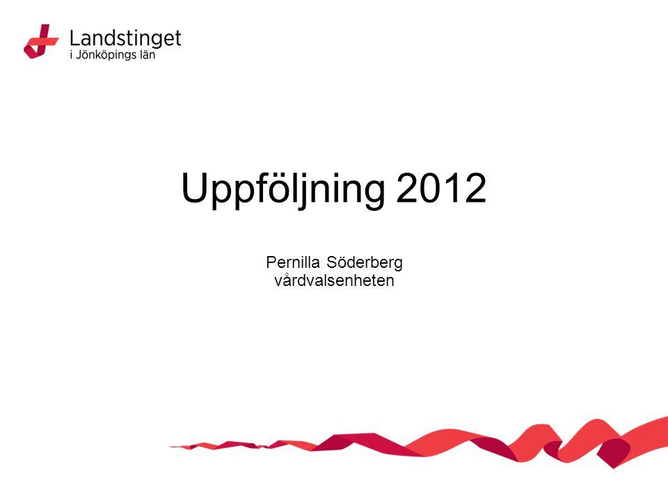 Uppföljning 2012 Pernilla Söderberg vårdvalsenheten