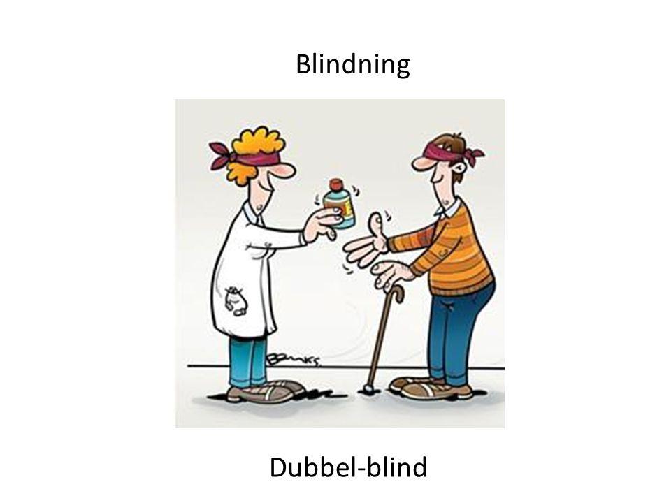 Blindning Dubbel-blind