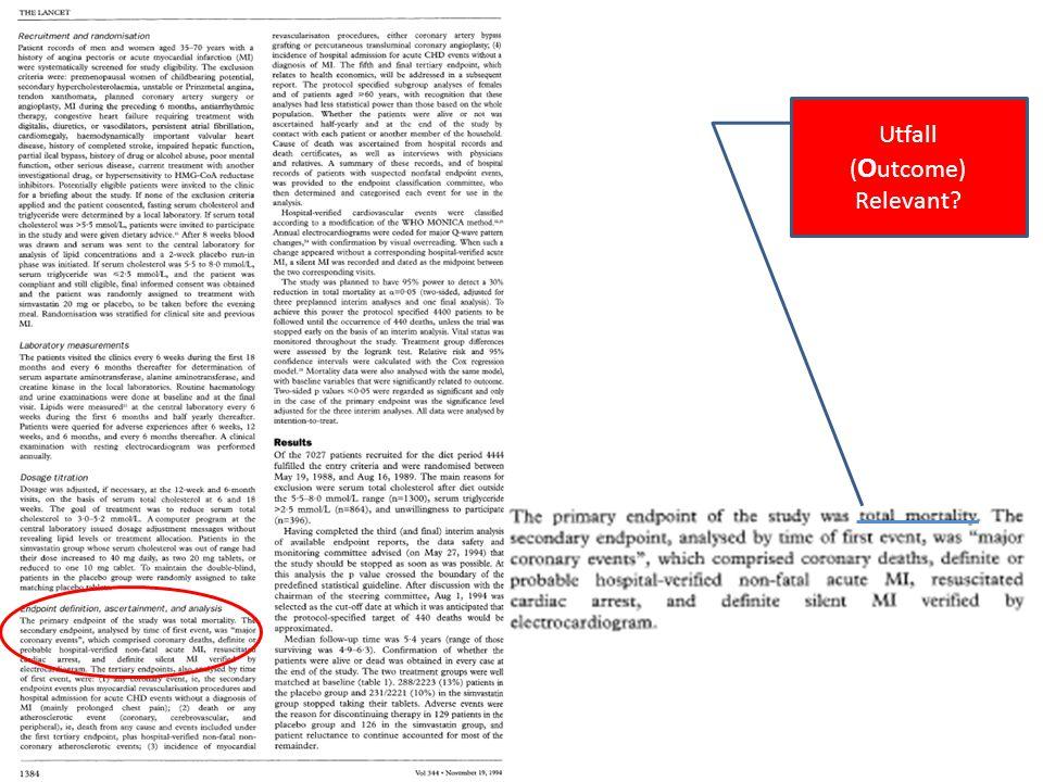 Utfall Exp 0 Utfall Experimental event rate (EER) = rate (eller risk) i /den exponerade/ interventionsgruppen