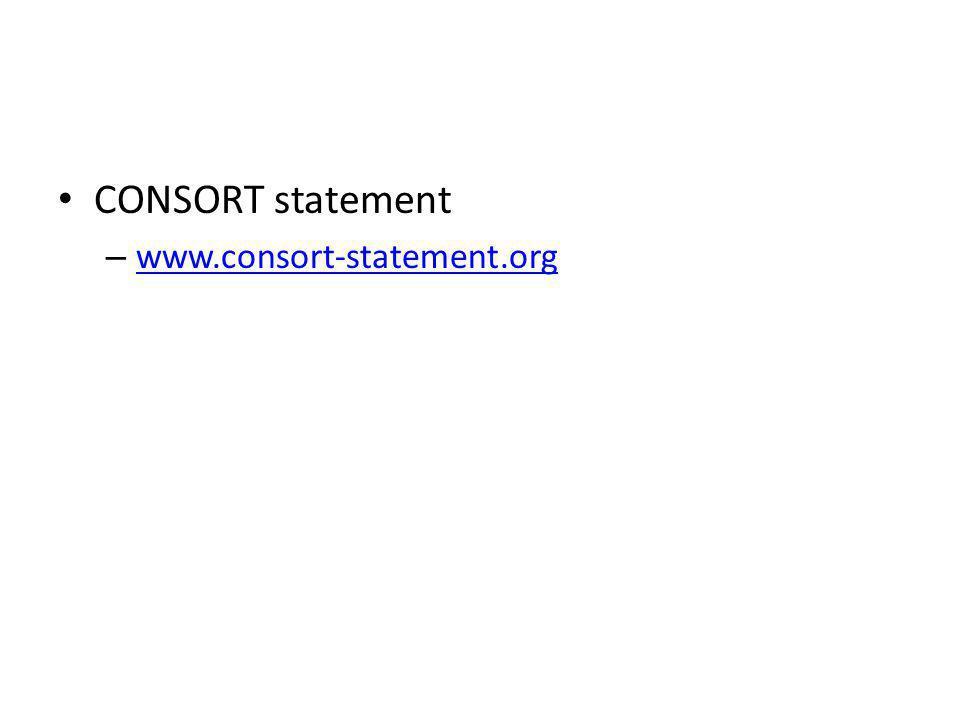 CONSORT statement – www.consort-statement.org www.consort-statement.org