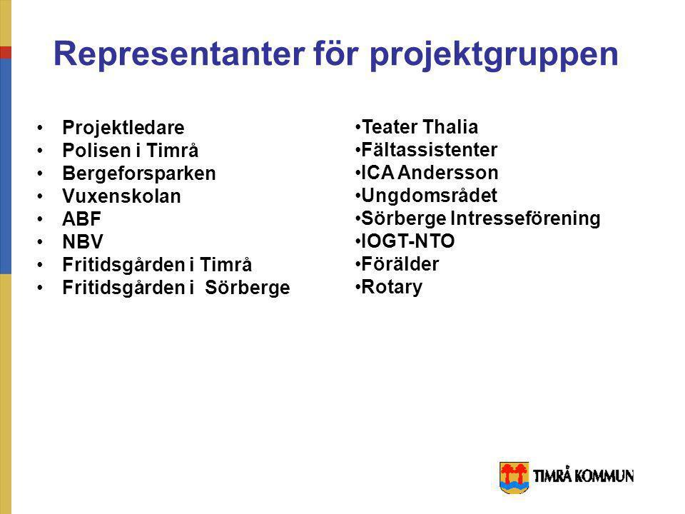Samarbetspartners - Timrå kommun - Bergeforsparken - Polis - Fältassistenter - Föreningar/ organisationer - Timrå ungdomsråd - Föräldrar - Studieförbu