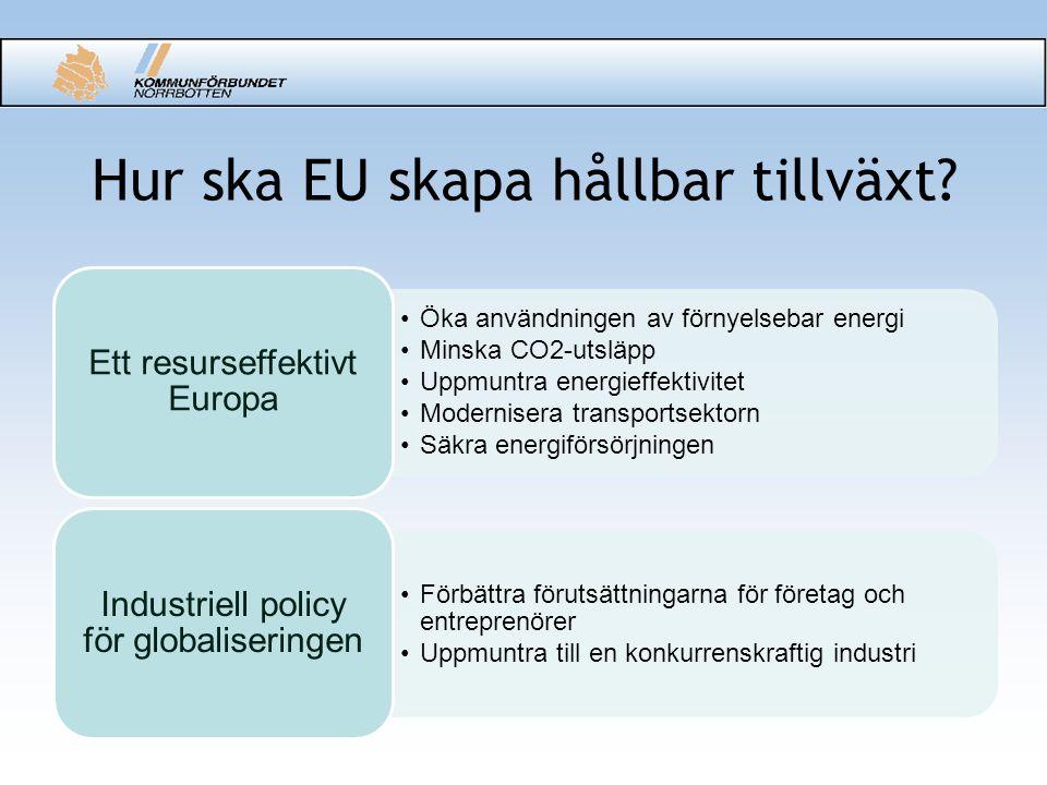 Hur ska EU skapa hållbar tillväxt.