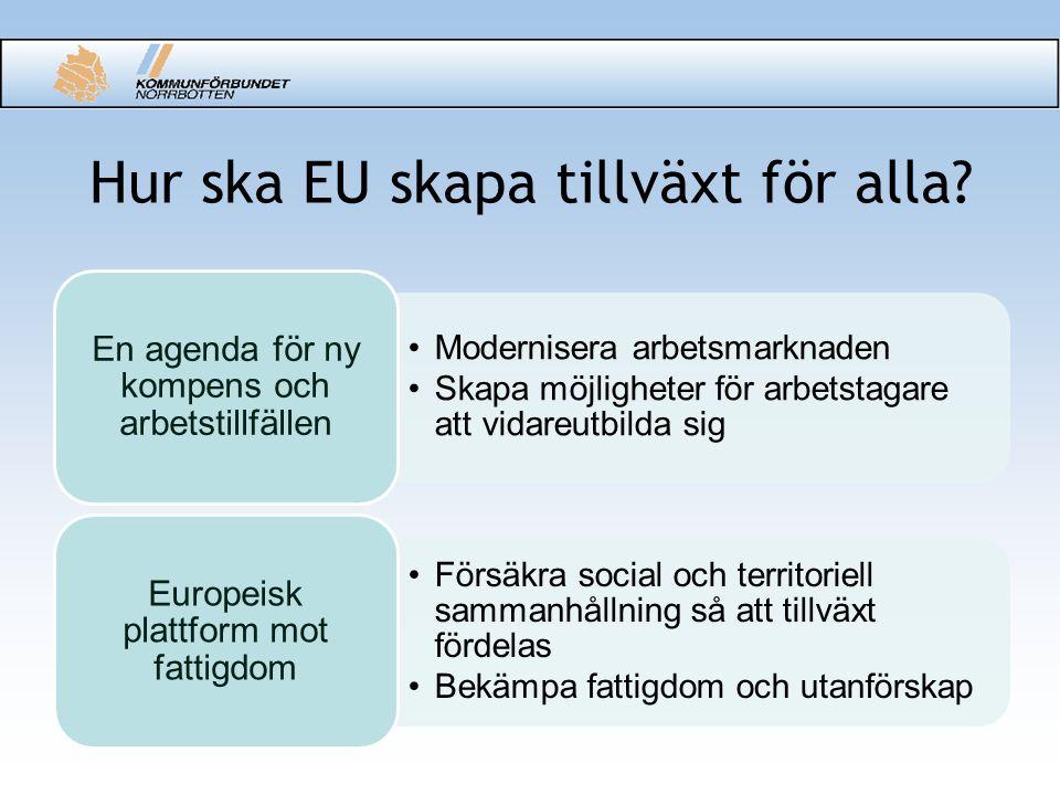 Hur ska EU skapa tillväxt för alla.