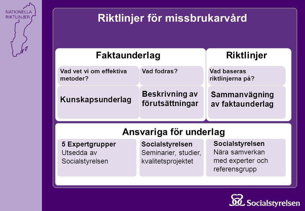 Rekommendationer för missbruk eller beroende under graviditet Målgrupp och åtgärd EffektEvidensEkonomiKommentar Gravida kvinnor.