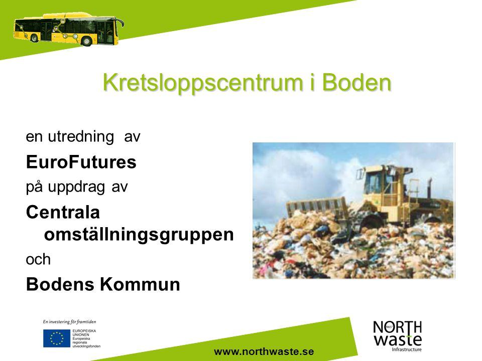 www.northwaste.se Kretsloppscentrum i Boden en utredning av EuroFutures på uppdrag av Centrala omställningsgruppen och Bodens Kommun