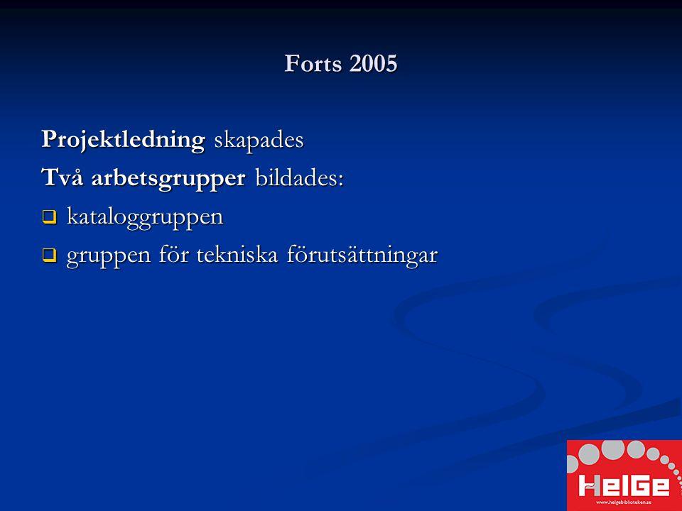 2005 2005  Information till kultur- och fritidsnämnder  Bakgrund  Beskrivning av projektet  Projektets ekonomi  Kommunikationslösning