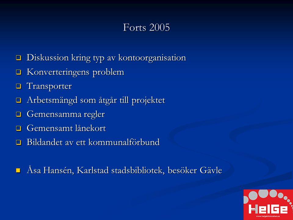 NOVEMBER 2005  Gävle stadsbibliotek hoppar av - önskar dock fortfarande vara med och utveckla gemensamma regler och ett gemensamt lånekort - önskar dock fortfarande vara med och utveckla gemensamma regler och ett gemensamt lånekort
