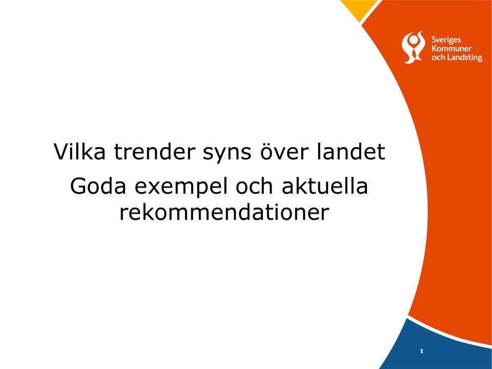Metodutveckling 3 Mer svensk kunskapsprodukion för utredningsarbetet och behandlingsarbetet 22