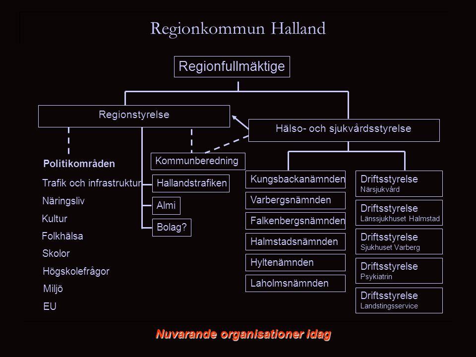 Regionfullmäktige Hälso- och sjukvårdsstyrelse Regionstyrelse Trafik och infrastruktur Näringsliv Folkhälsa Driftsstyrelse Närsjukvård Kultur Skolor D