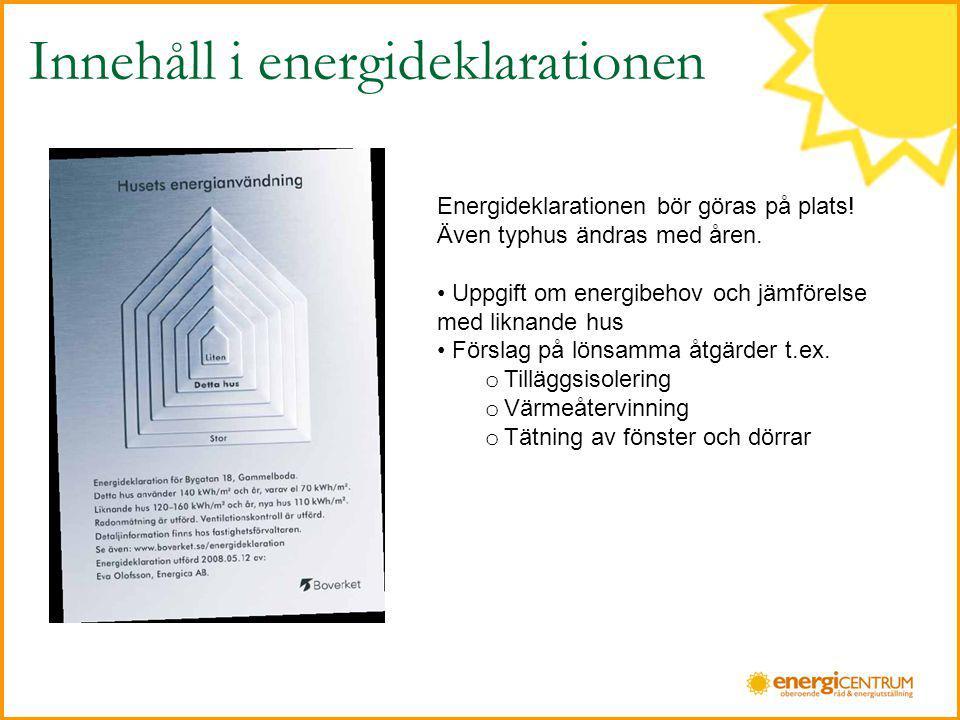 Nyckeltal / ByggårkWh/m2 Före 1940191 1941-1960165 1961-1970142 1971-1980136 1981-1990141 1991-2000136 2001-120 Genomsnittlig energi- användning i småhus