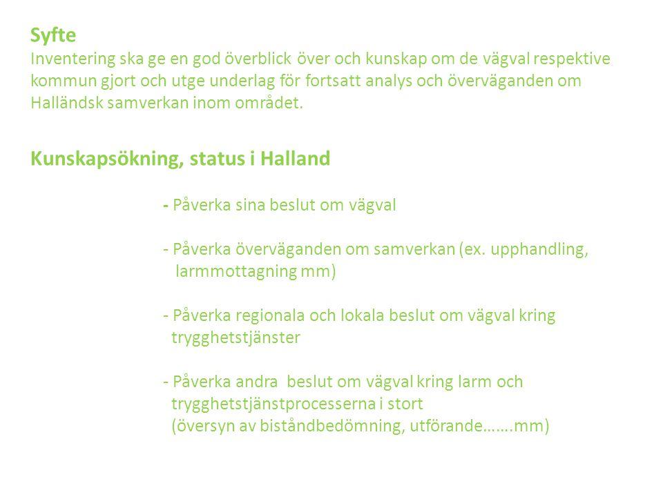 Kommentarer till de olika kommunerna Installation och service (1) -Hårdvara hemma hos kund -Nivå av digitalisering i % (apparat hemma hos kund).