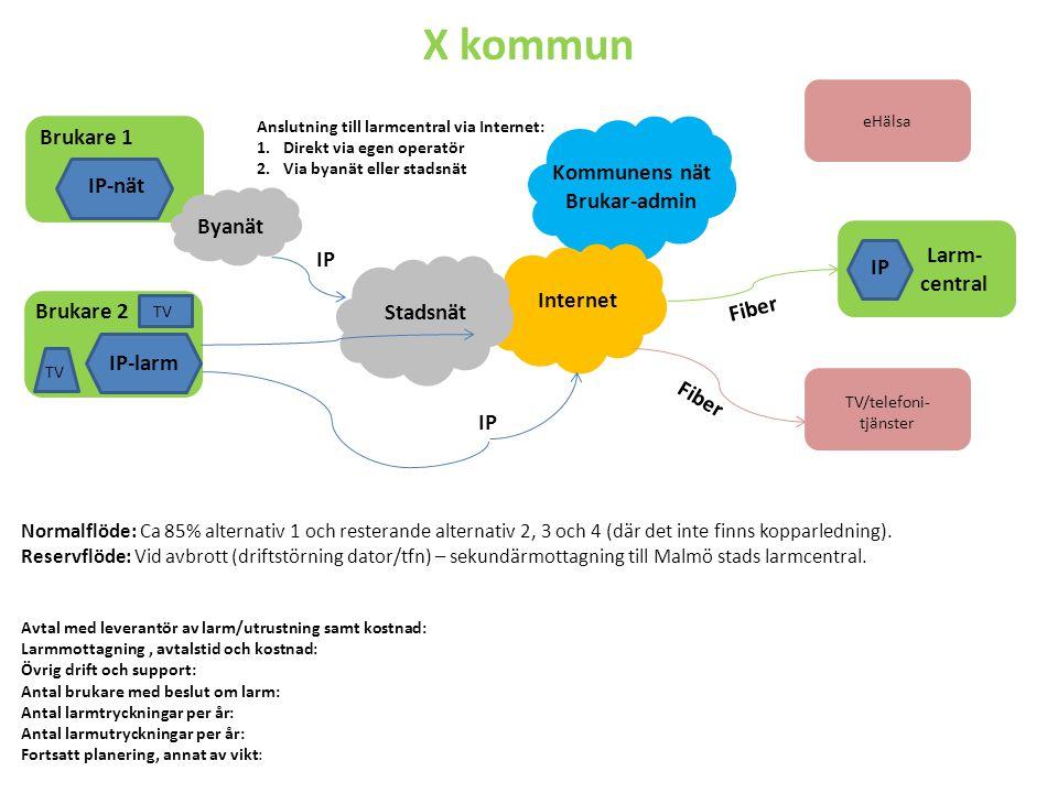 Kommentarer till X kommun -Ca 25 % digitalisering.