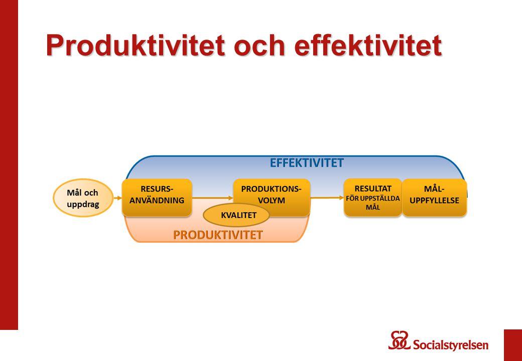 Produktivitet och effektivitet