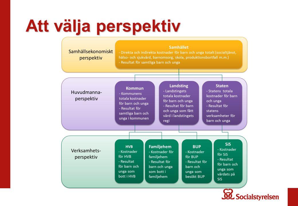 Fem angreppssätt Effektivitet i relation till mål Effektivitet som jämförelse Produktivitet Separat redovisning –Resursanvändning –Produktionsvolym –Kvalitet –Resultat Ineffektivt resursutnyttjande