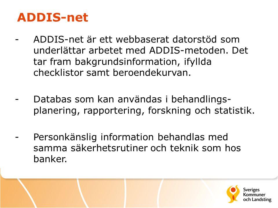 ADDIS-net -ADDIS-net är ett webbaserat datorstöd som underlättar arbetet med ADDIS-metoden. Det tar fram bakgrundsinformation, ifyllda checklistor sam