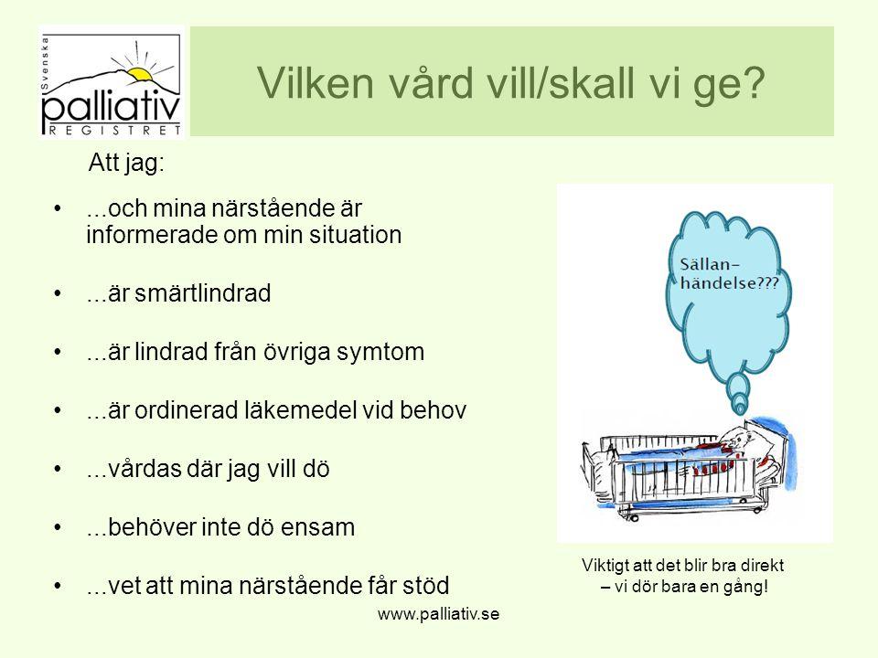 ÄR VÅRDEN JÄMLIK? www.palliativ.se