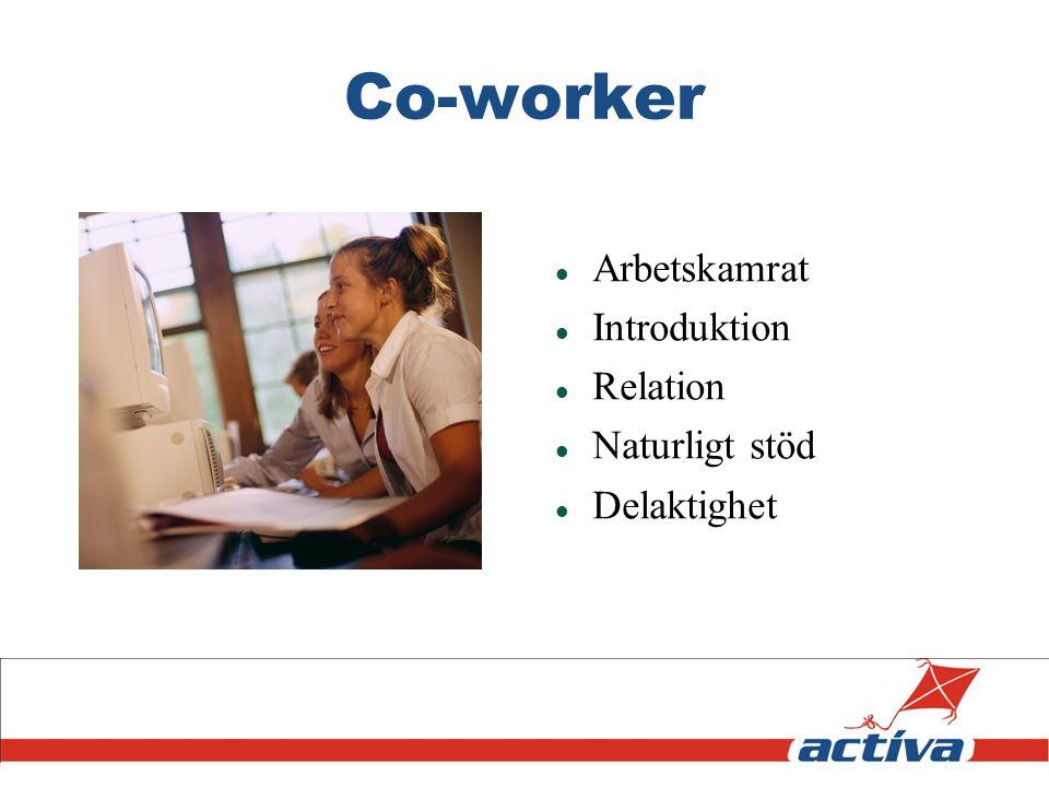 Co-worker Arbetskamrat Introduktion Relation Naturligt stöd Delaktighet