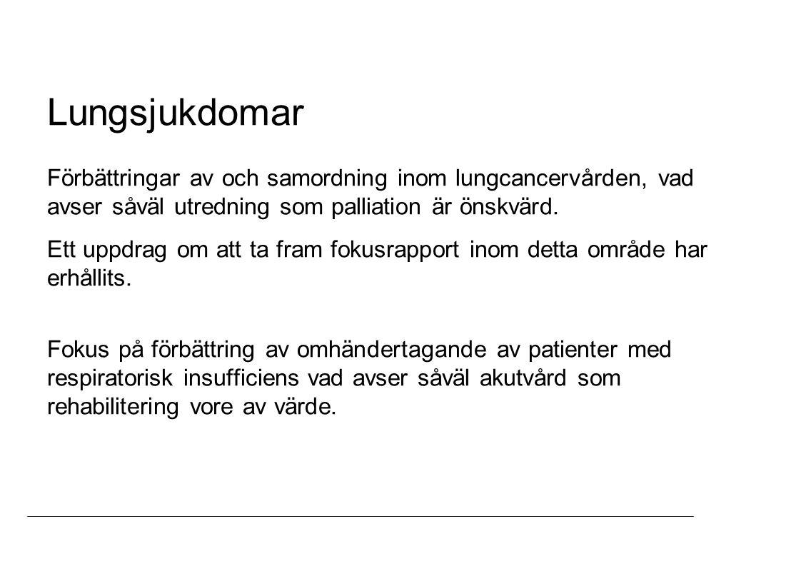 Thoraxkirurgi Sammanslagning av den thoraxkirurgiska verksamheten i Stockholm med bildandet av en enhet lokaliserad till Solna.