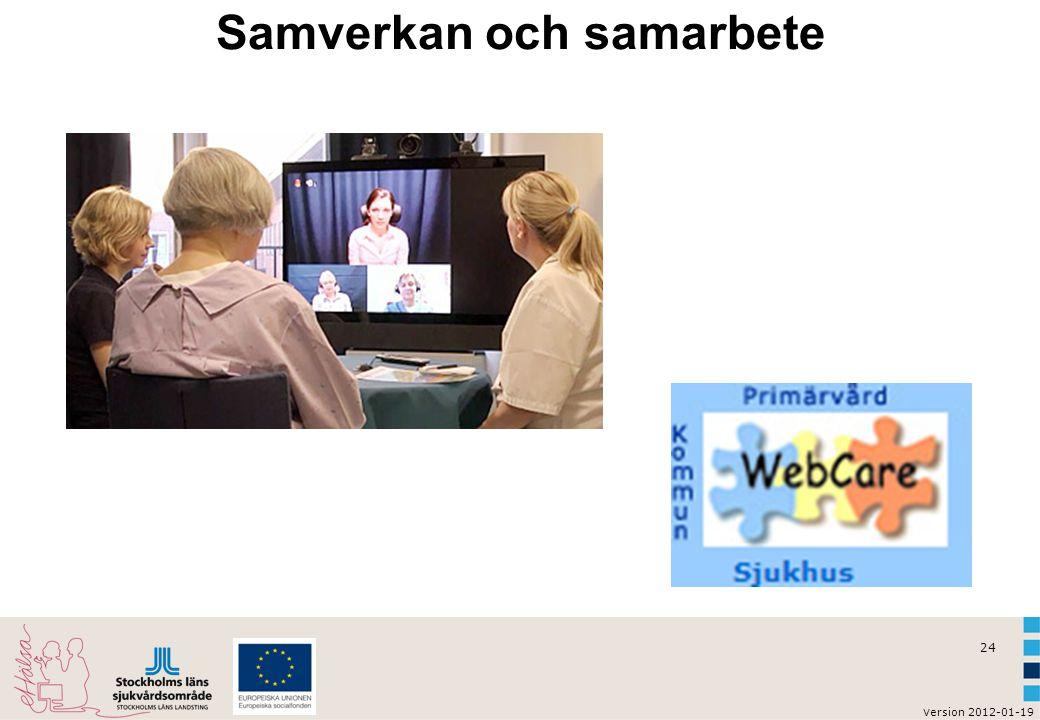 v ersion 2012-01-19 24 Samverkan och samarbete