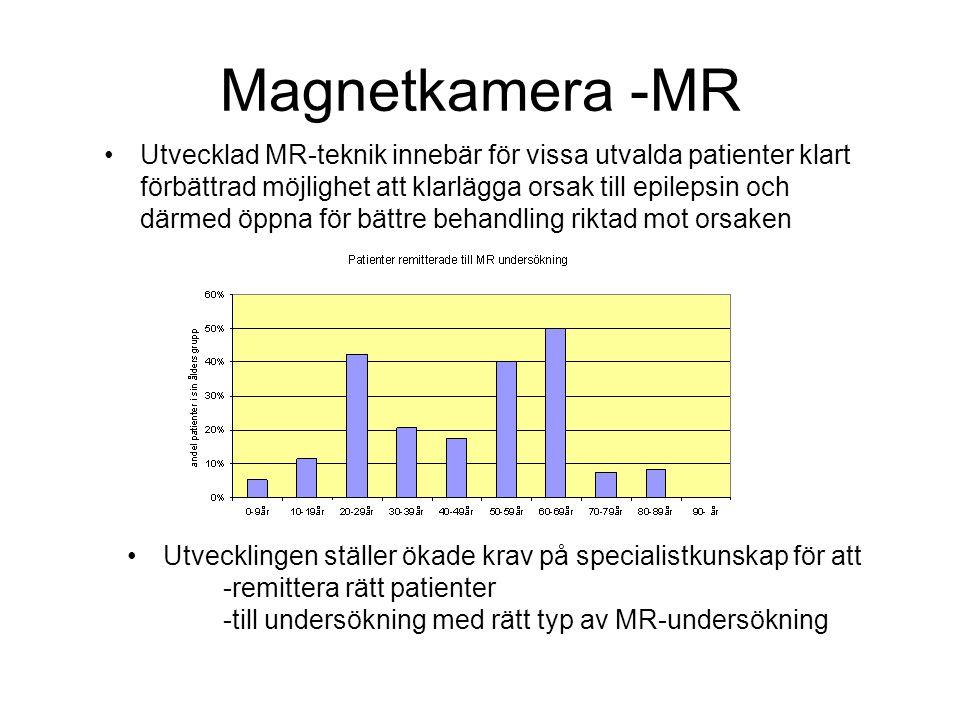 Magnetkamera -MR Utvecklad MR-teknik innebär för vissa utvalda patienter klart förbättrad möjlighet att klarlägga orsak till epilepsin och därmed öppn