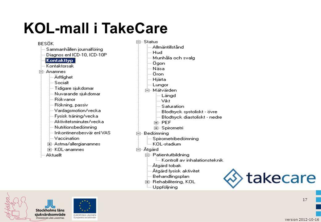 v ersion 2012-10-16 18 KOL-mall i TakeCare (utfälld)