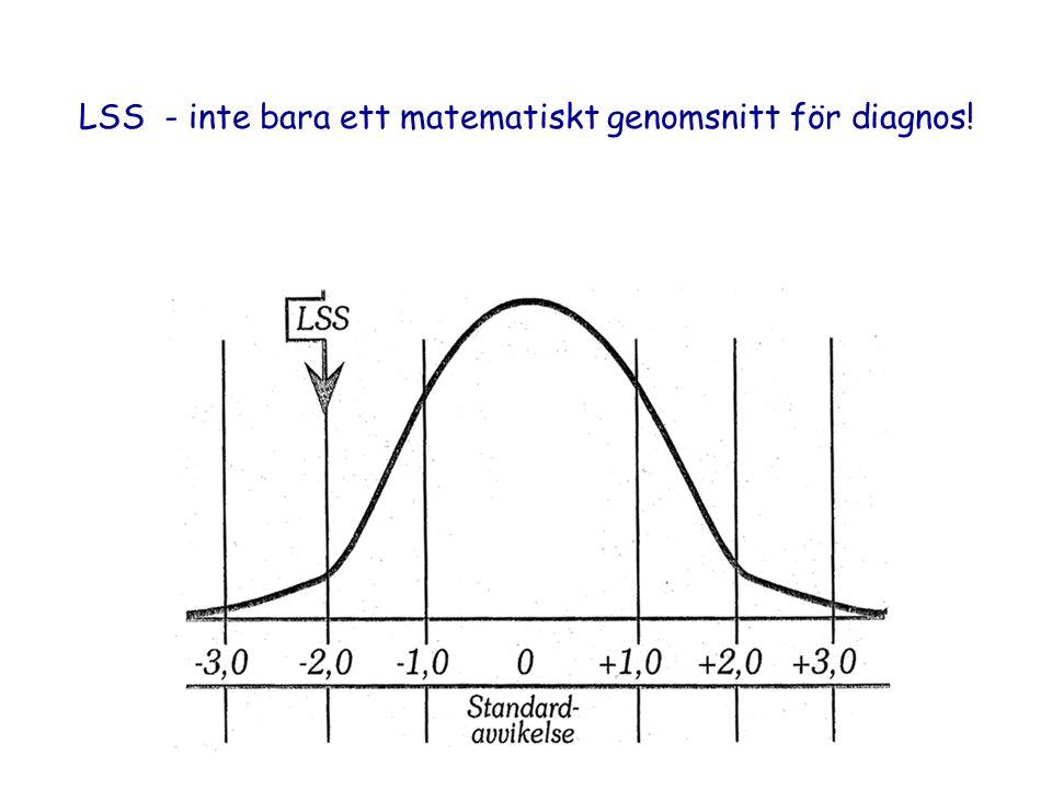 Psykiatri Sydväst LSS - inte bara ett matematiskt genomsnitt för diagnos!