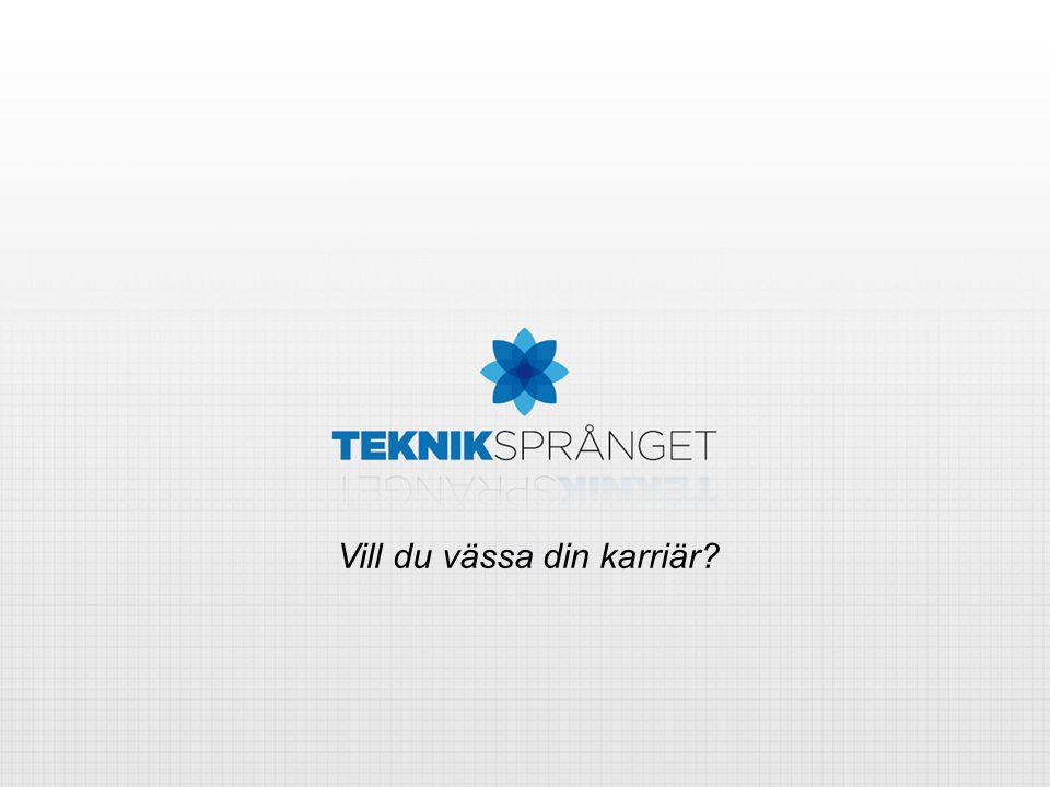Sverige – bas för några av världens främsta teknikbaserade företag Sveriges tradition av ingenjörskonst är till stor del grunden för vår välfärd och konkurrenskraft Bolag som Volvo, Ericsson och Sandvik är globala aktörer som byggts upp av svenska ingenjörer För att säkra Sveriges framtid som en konkurrenskraftig nation inom teknikindustri startades Tekniksprånget Teknikintresserade ungdomar är nyckeln till fortsatt framgång för svensk industri Redan nu uppger många företag inom branscher som IT, telekom och biomedicin att de har svårt att hitta personal med rätt kompetens, och att denna brist hämmar deras tillväxt. - Teknikdelegationen