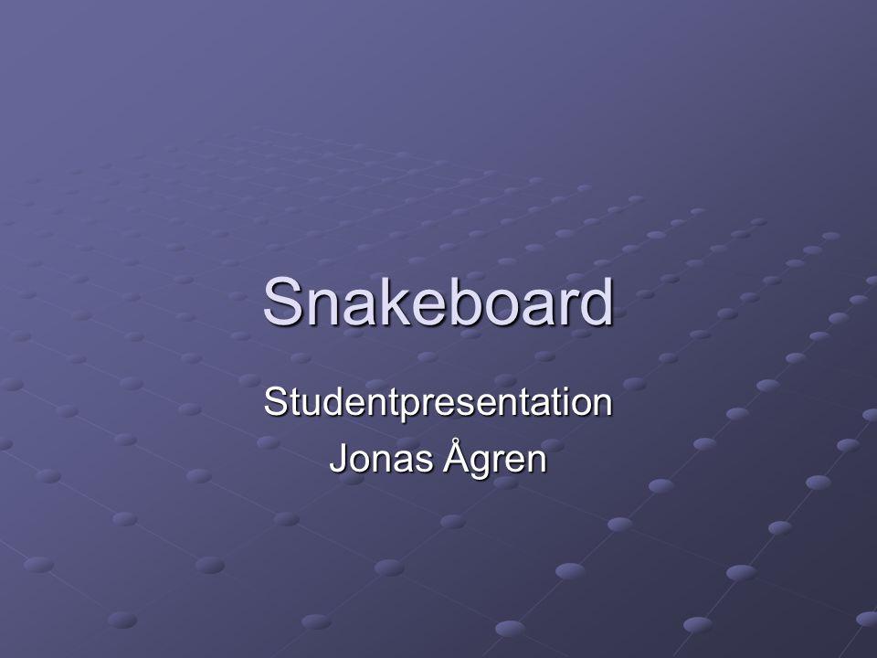Snakeboard Studentpresentation Jonas Ågren