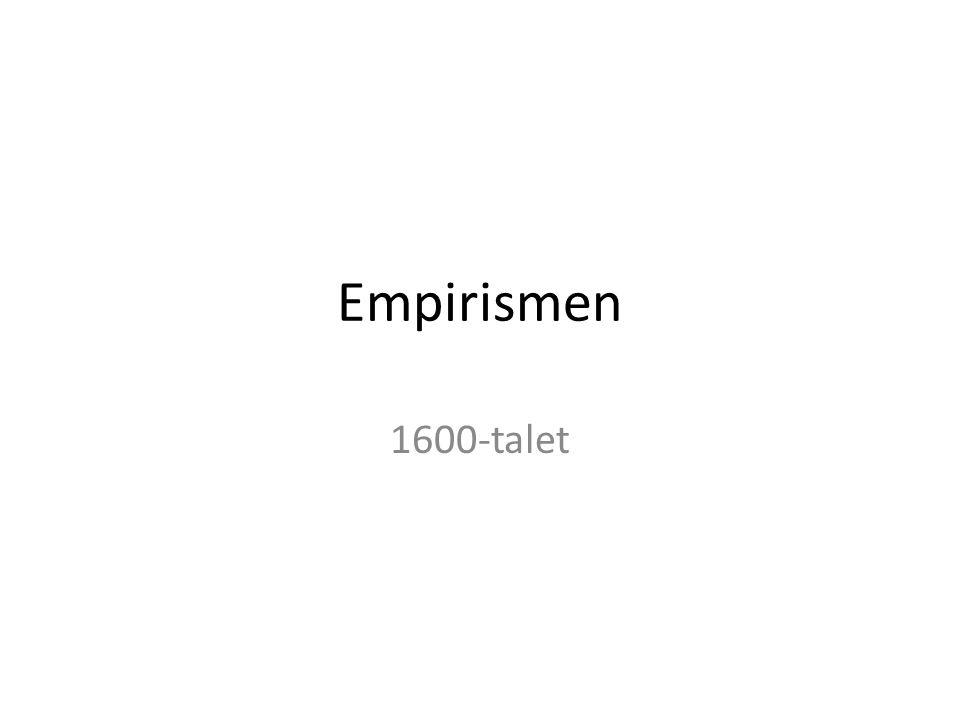 Empirismen 1600-talet