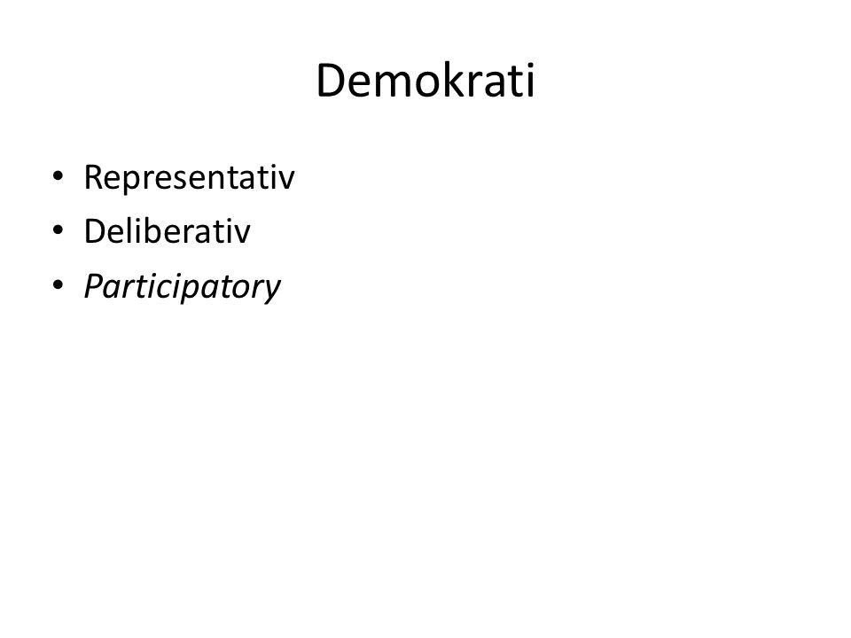 Demokrati Representativ Deliberativ Participatory