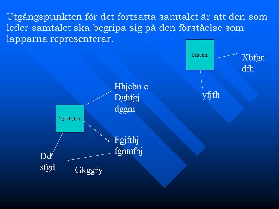 Ygh fhgfjkd Hhjcbn c Dghfgj dggm Fgjfthj fgnmfhj Gkggry Dd sfgd bfhsmr yfjfh Xbfgn dfh Utgångspunkten för det fortsatta samtalet är att den som leder samtalet ska begripa sig på den förståelse som lapparna representerar.