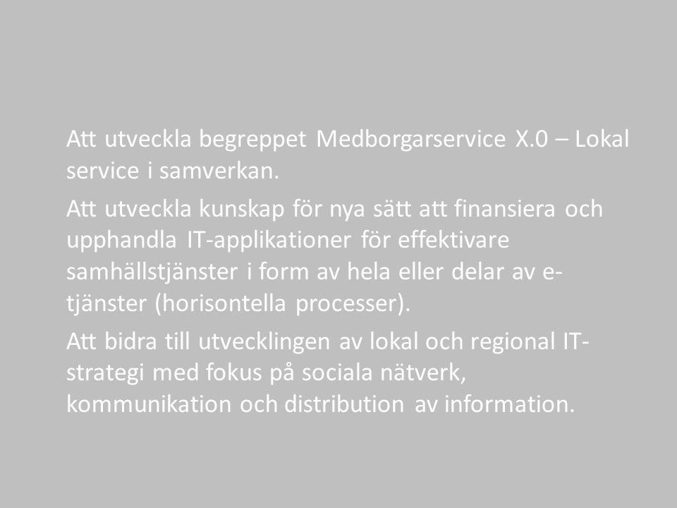 Att utveckla begreppet Medborgarservice X.0 – Lokal service i samverkan.