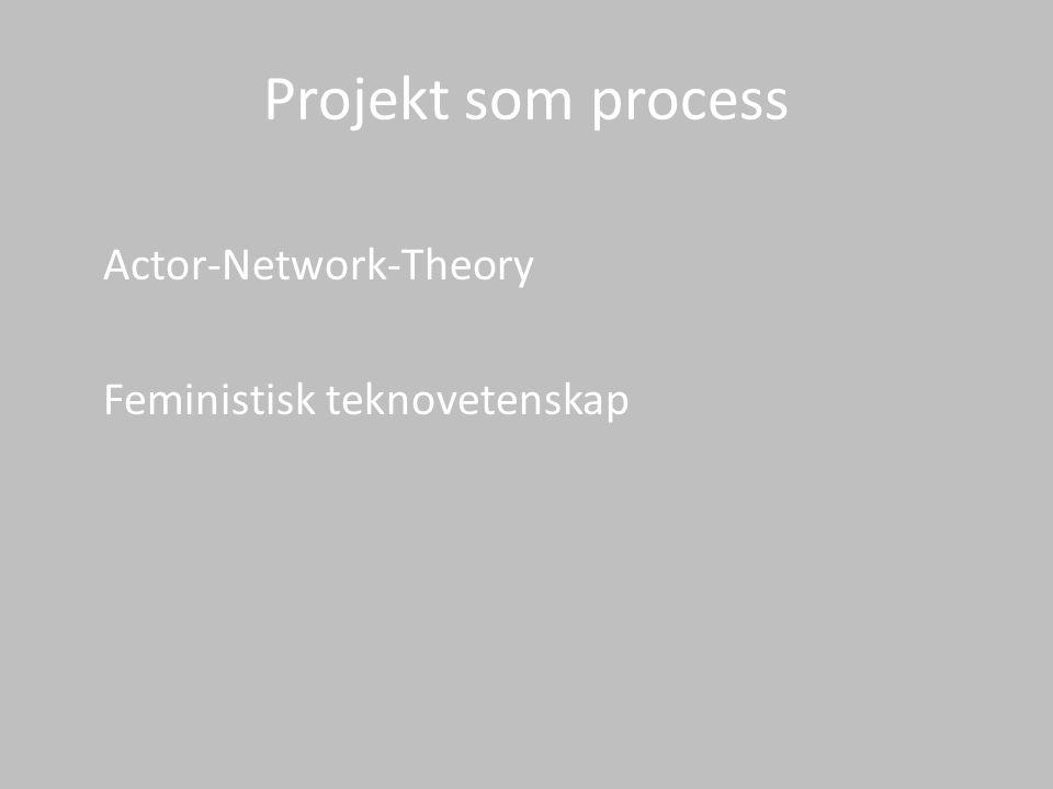 Projekt som process Actor-Network-Theory Feministisk teknovetenskap