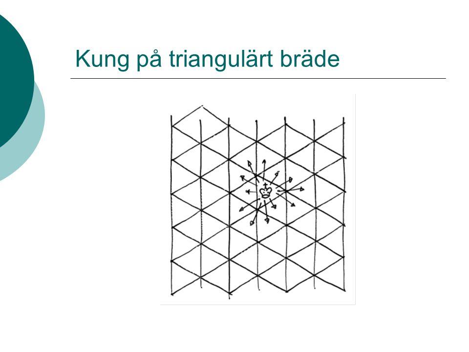 Kung på triangulärt bräde