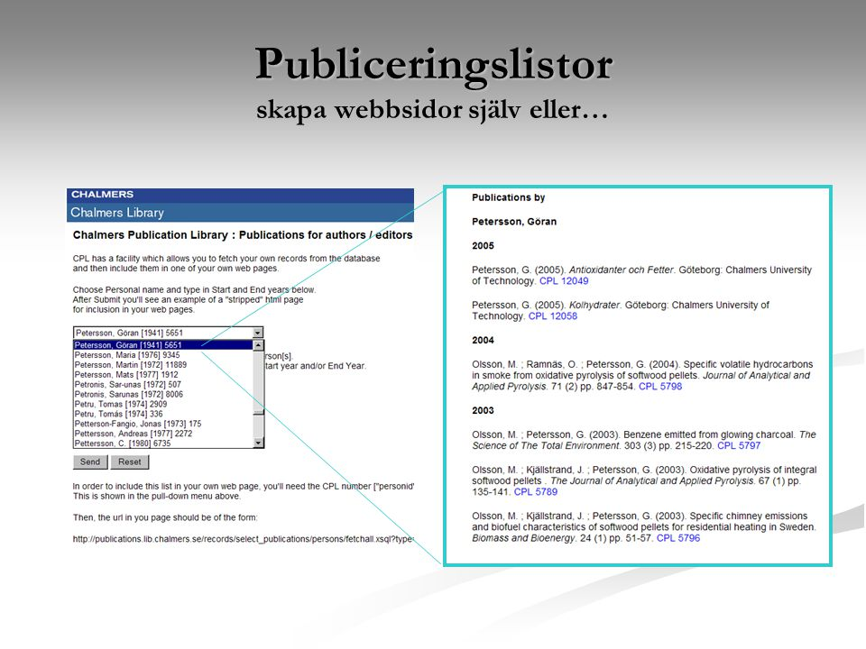 Publiceringslistor skapa webbsidor själv eller…