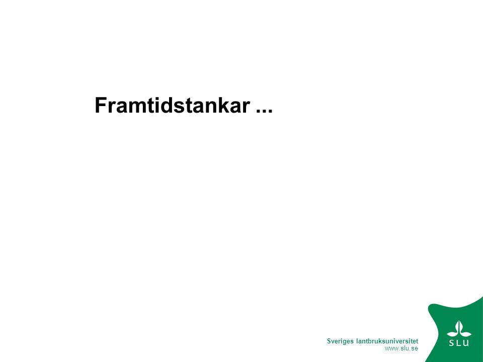 Sveriges lantbruksuniversitet www.slu.se Framtidstankar...