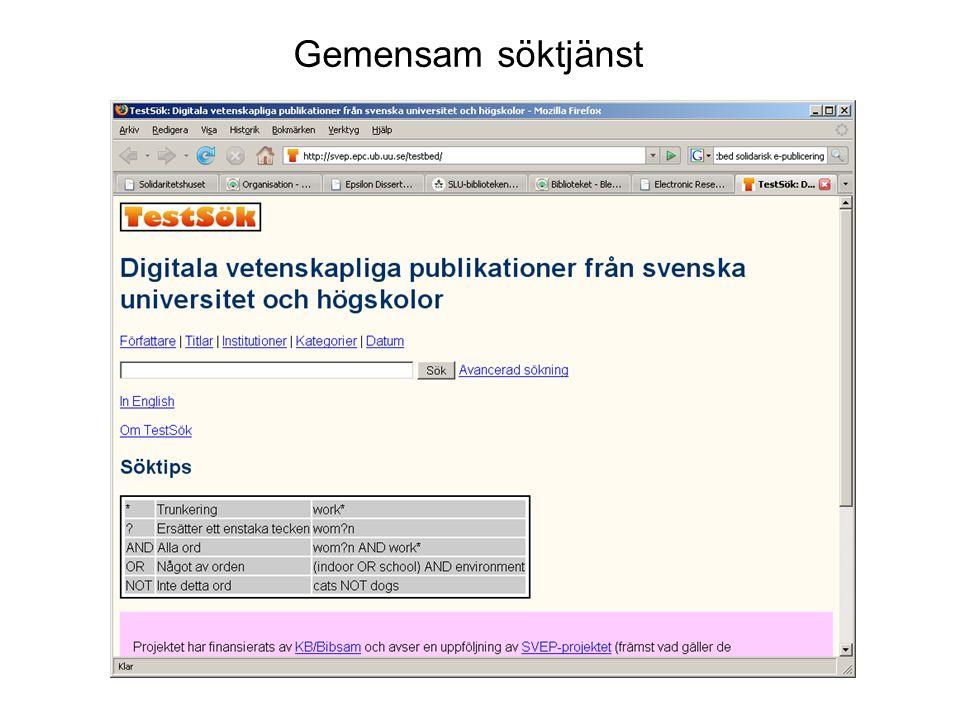 Sveriges lantbruksuniversitet www.slu.se Metadata för öppna arkivet (ex.