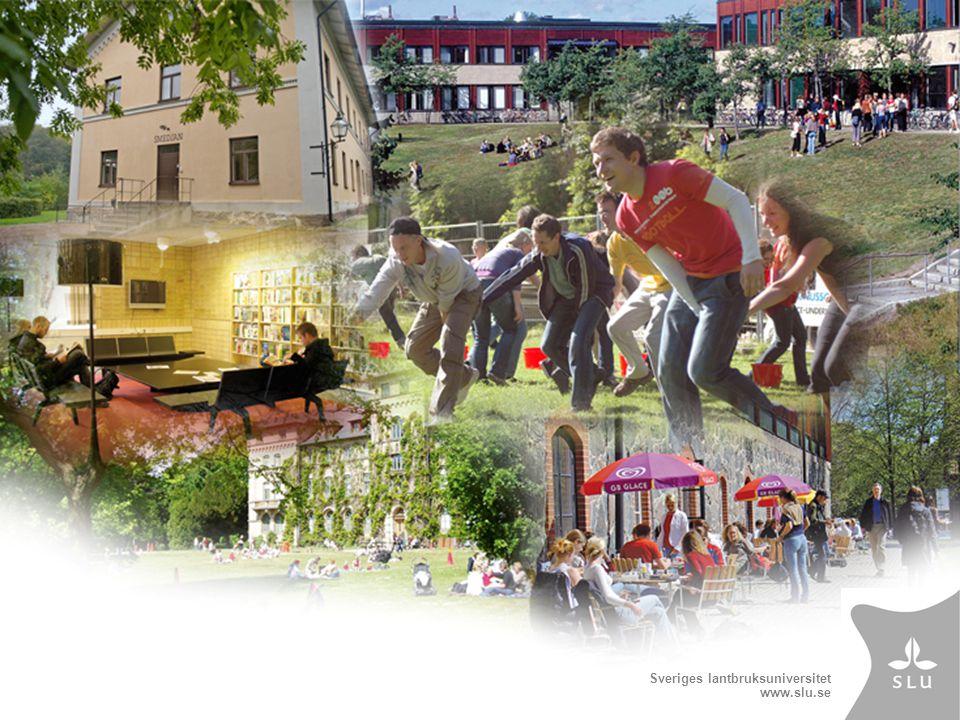 Sveriges lantbruksuniversitet www.slu.se