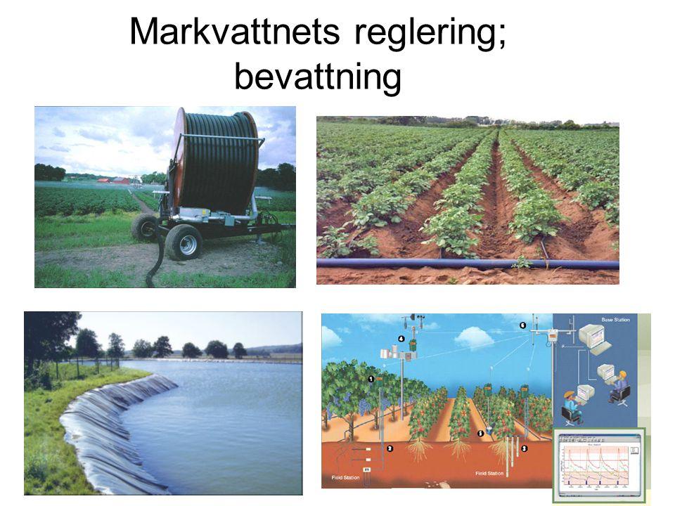 Markvattnets reglering; bevattning