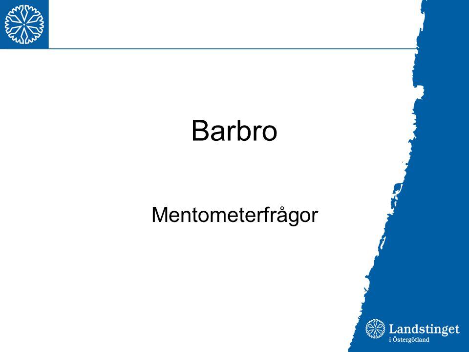 Barbro Mentometerfrågor