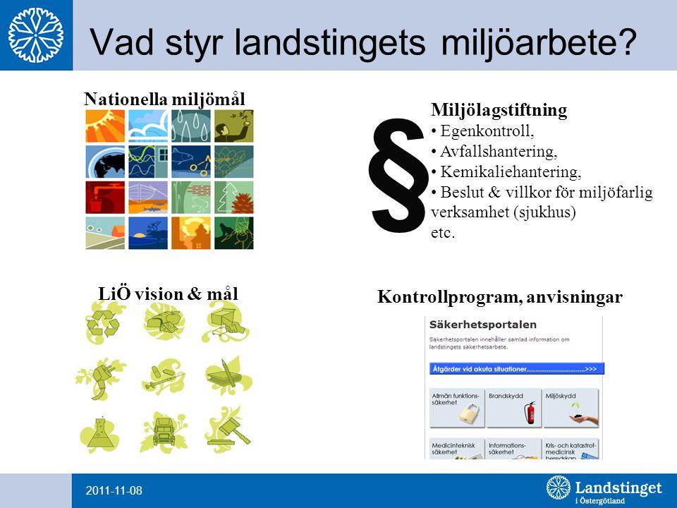 2011-11-08 Vad styr landstingets miljöarbete.