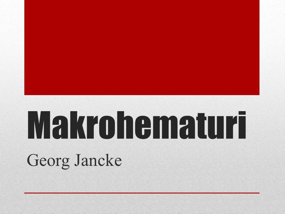 Makrohematuri skall alltid utredas Asymtomatisk mikrohematuri behöver ej utredas Makrohematuri skall föranleda en utredning av övre och nedre urinvägar Utredningen bör vara avslutad inom 4 veckor Fördröjning av utredningen kan ha implikationer på långtidsöverlevnad vid malignitet