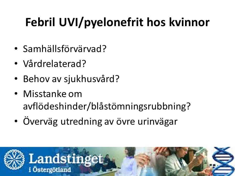 Febril UVI/pyelonefrit hos kvinnor Samhällsförvärvad.